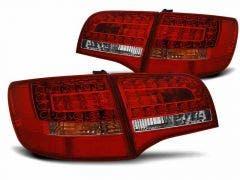 Audi A6 C6 05-08 Avant Red-White LED achterlicht units