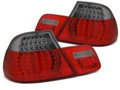 BMW E46 Coupe LED achterlicht units, dynamisch knipperlicht Red Smoke