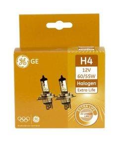 ADAC winnaar : GE Halogeen Extra Life 12volt 55 watt - H4