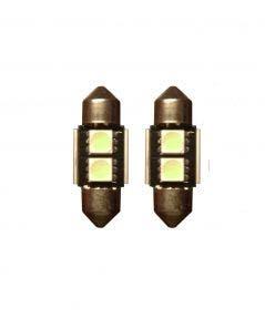 2-SMD-Canbus-LED-binnenverlichting-31mm-groen