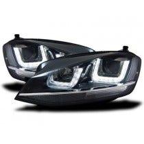 LED koplamp unit VW Golf 7 Black Chrome_3