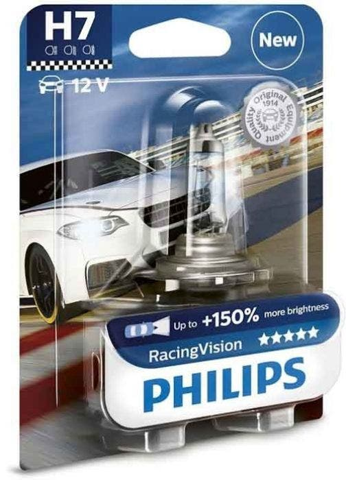Philips H7 Racing Vision +150% Blister 1 Lamp