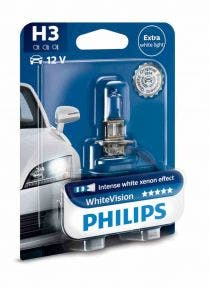 Philips Whitevision blister 1 lamp - H3 12336WHVB1