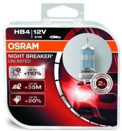 Osram Halogeen Night Breaker Unlimited HB4 2e Kans