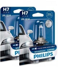 Philips WhiteVision set 3700k - H7 - (2 losse blisters)